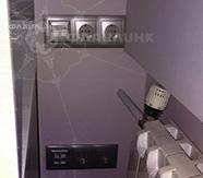 розетки силовой сети и СКС в офисе компании Эр-АйДи